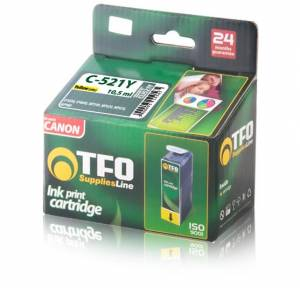 Tusz Canon TFO C-521Y (CLI521Y) yellow 10.5ml