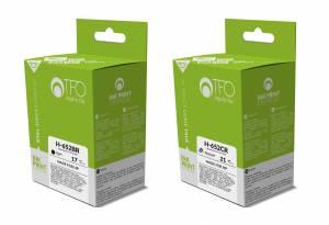 Zestaw TFO HP 652 2 tusze czarny 17ml i kolor 21ml