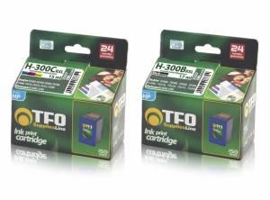 Zestaw TFO HP 300 czarny 17ml i kolor 15ml - 2 tusze