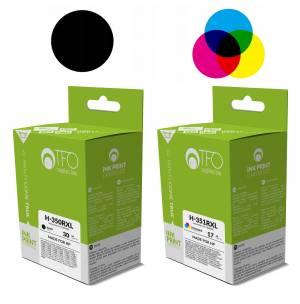 Zestaw TFO HP 350 czarny 30ml i HP 351 kolor 17ml - 2 tusze XL