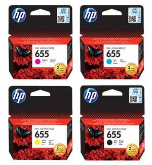 Zestaw HP 655 CMYK - 4 oryginalne tusze