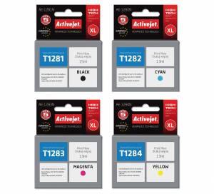 Zestaw Activejet do Epson T1281-T1284 - 4 tusze CMYK XL