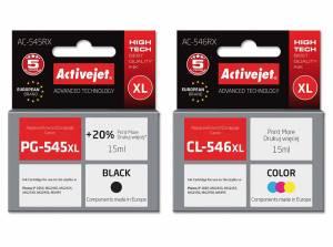 Zestaw Activejet do Canon PG-545 CL-546 - 2 tusze XL