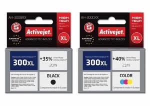 Zestaw Activejet do HP 300 czarny i kolor - 2 tusze XL