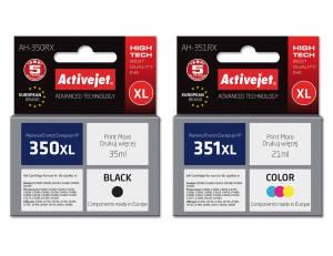 Zestaw Activejet do HP 350 HP 351 czarny i kolor - 2 tusze XL