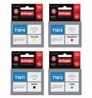 Zestaw Activejet do Epson T1811-T1814 - 4 tusze CMYK XL