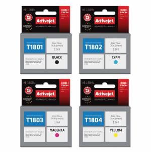 Zestaw Activejet do Epson T1801-T1804 - 4 tusze CMYK