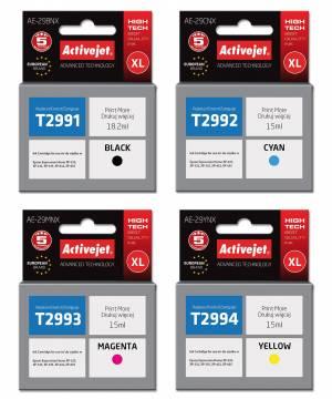 Zestaw Activejet do Epson T2991 - T2994 - 4 tusze CMYK XL