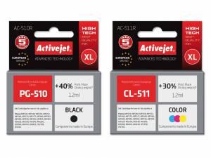 Zestaw Activejet do Canon PG-510 CL-511 - 2 tusze XL