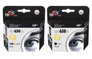 Zestaw TB Print HP 650 - 2 tusze czarny i kolor