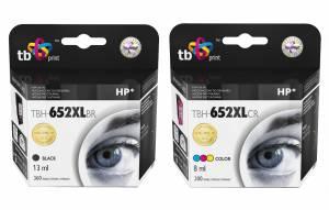 Zestaw TB Print HP 652 - 2 tusze czarny i kolor XL