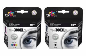 Zestaw TB Print HP 300 - 2 tusze czarny i kolor XL