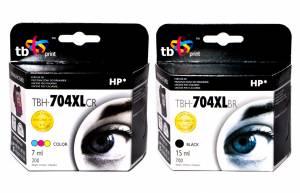 Zestaw TB Print HP 704 - 2 tusze czarny i kolor XL