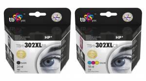 Zestaw TB Print HP 302 - 2 tusze czarny i kolor XL