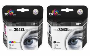 Zestaw TB Print HP 304 - 2 tusze czarny i kolor XL