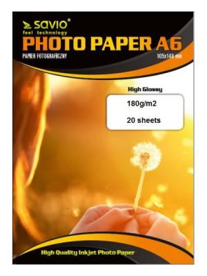 Papier fotograficzny SAVIO PA-01 A6 180/20 błysk