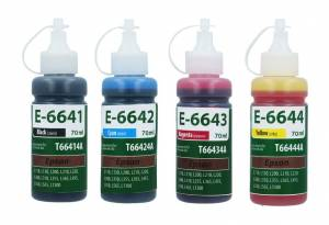 Zestaw TFO 4 tusze do Epson T664 4x 70ml CMYK