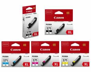 Zestaw Canon PGI-570 i CLI-571 5x oryginał XL