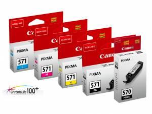 Zestaw Canon CLI-571 PGI-570 5x oryginalny tusz