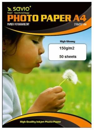 Papier fotograficzny SAVIO PA-09 A4 150/50 blysk