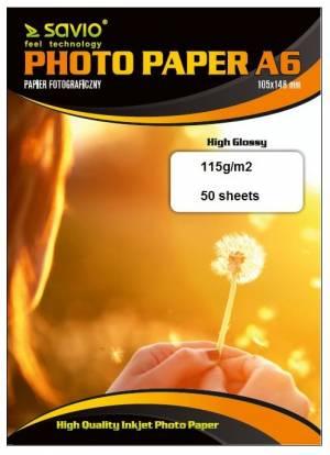 Papier fotograficzny SAVIO PA-02 A6 115/50 blysk