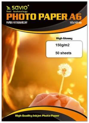 Papier fotograficzny SAVIO PA-03 A6 150/50 blysk