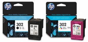 Zestaw HP 302 - czarny F6U66AE i kolor F6U65AE