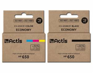 Zestaw Actis do HP 650 2 tusze - czarny + kolor