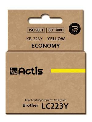 Tusz ACTIS KB-223Y Brother LC223Y 10 ml żółty