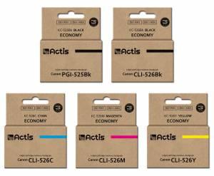 Zestaw Actis 5 zamienników Canon PGI-525 CLI-526