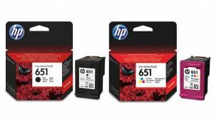 Zestaw HP 651 - 2 tusze, czarny + kolor