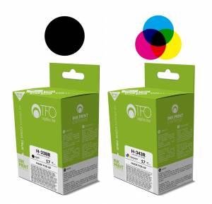 Zestaw TFO 2 tusze do HP 338 i 343 czarny + kolor