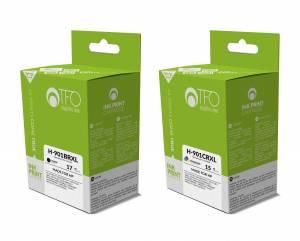 Zestaw TFO do HP 901 - czarny 17ml + kolor 15ml