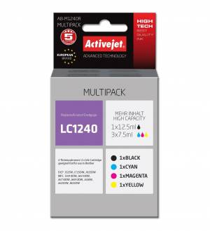 Multipack Activejet do Brother LC1240 - 4 tusze CMYK