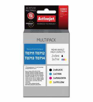 Multipack Activejet do Epson T0711-T0714 - 2x czarny + CMY