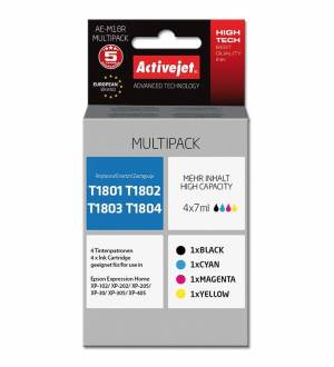 Multipack Activejet do Epson T1811-T1814 - 4 tusze CMYK