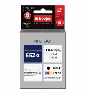 Dwupak Activejet HP 652XL - czarny 20ml + kolor 21ml