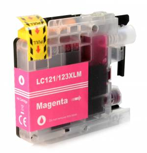 Tusz do Brother LC 123 zamiennik whitebox XL magenta