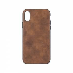 Forever Nakładka Prime leather back do iPhone X / iPhone XS brązowa