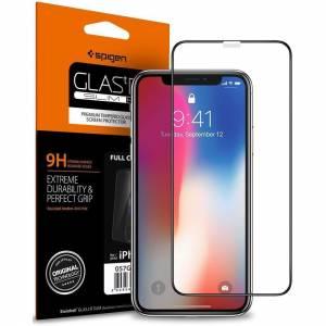 Spigen Szkło hartowane Glass FC iPhone 11 Pro/XS/X czarne