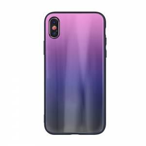 Nakładka Aurora Glass do Samsung S20 różowo-czarna