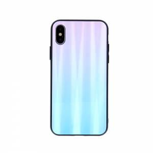Nakładka Aurora Glass do iPhone X / iPhone XS niebiesko-różowa