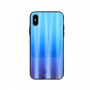 Nakładka Aurora Glass do iPhone X / iPhone XS niebieska