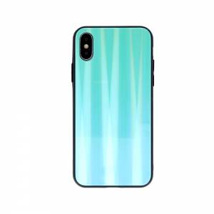 Nakładka Aurora Glass do iPhone X / iPhone XS miętowa