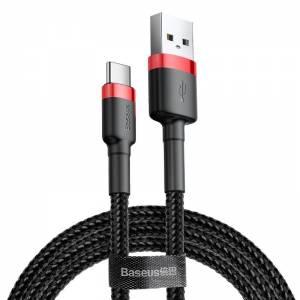 Kabel USB-C Baseus Cafule 3A 1m czerwono-czarny