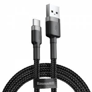 Kabel USB-C Baseus Cafule 2A 2m szaro-czarny