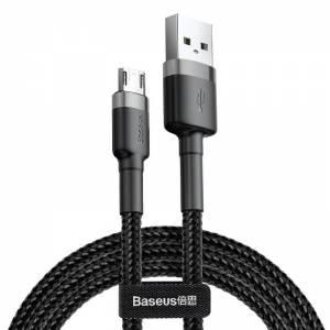 Kabel Micro USB Baseus Cafule 2.4A 1m (szaro-czarny)