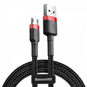 Kabel Micro USB Baseus Cafule 2.4A 1m (czerwono-czarny)