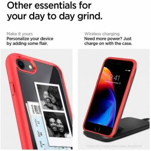 Etui Spigen Ultra Hybrid do Iphone 7/8/se 2020 Red
